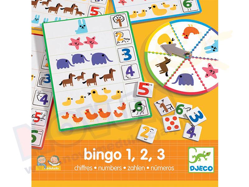 Novum Bingo 1,2,3 ze zwierzątkami