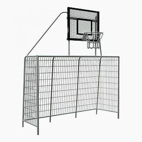 Inter Play Bramka 3x2m z koszem do koszykówki - fundamenty w komplecie (MR2110)
