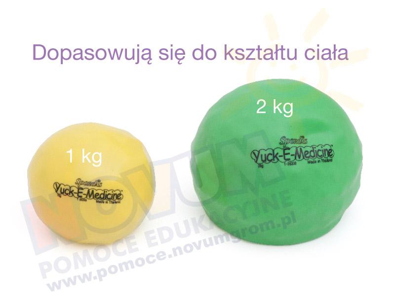 Novum Duże piłki-woreczki rehabilitacyjne 2 kg