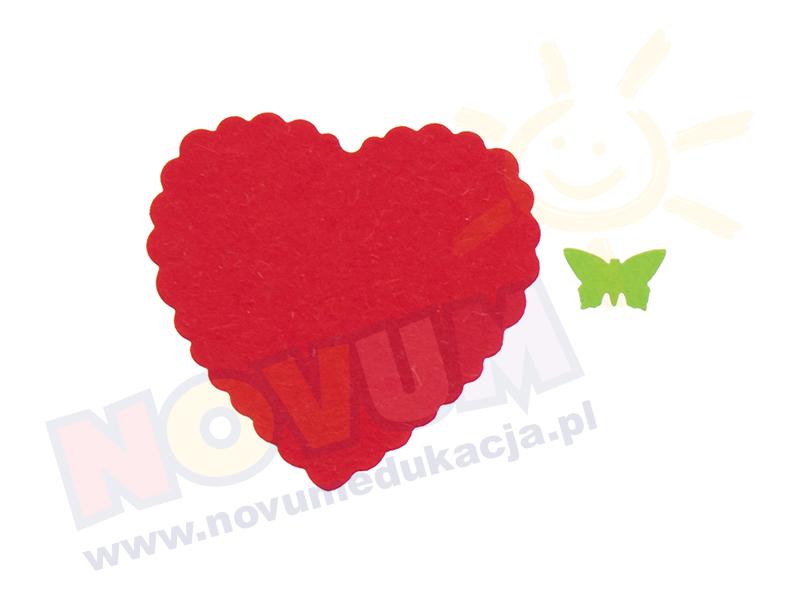 Novum Dziurkacz ozdobny 3,7 cm serce z falbanką