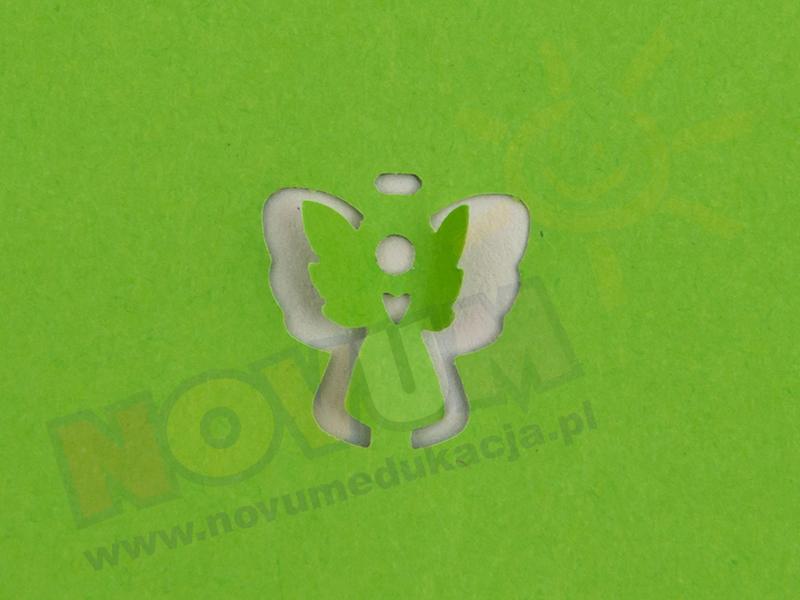 Novum Dziurkacz ozdobny 3d 1,5 cm anioł