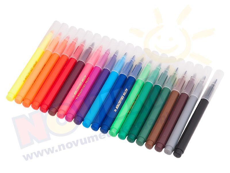 Novum Flamastry stożkowe 20 kolorów