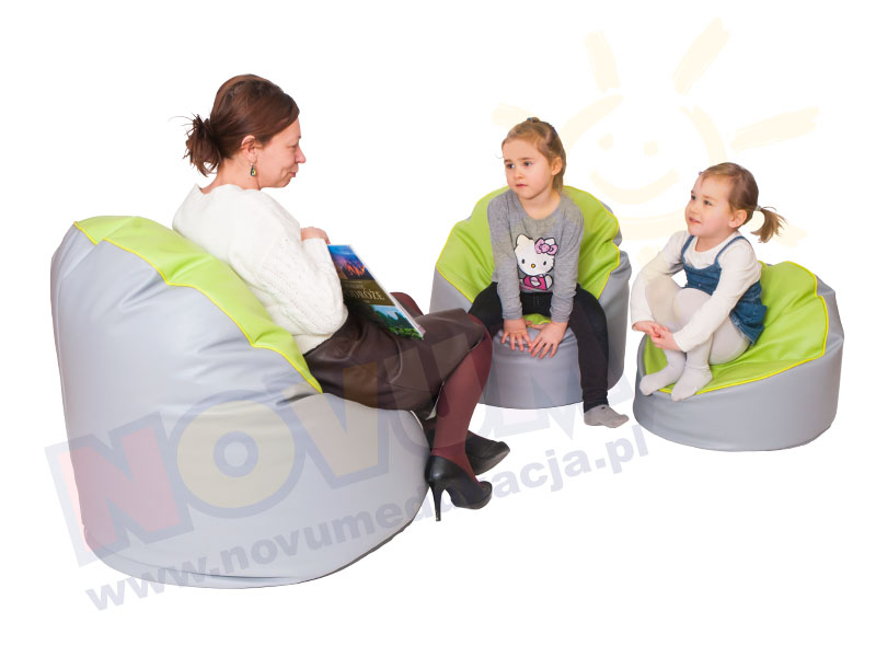 Novum Fotel z granulatem średni