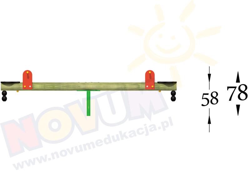 Novum Huśtawka ważka na podstawie metalowej