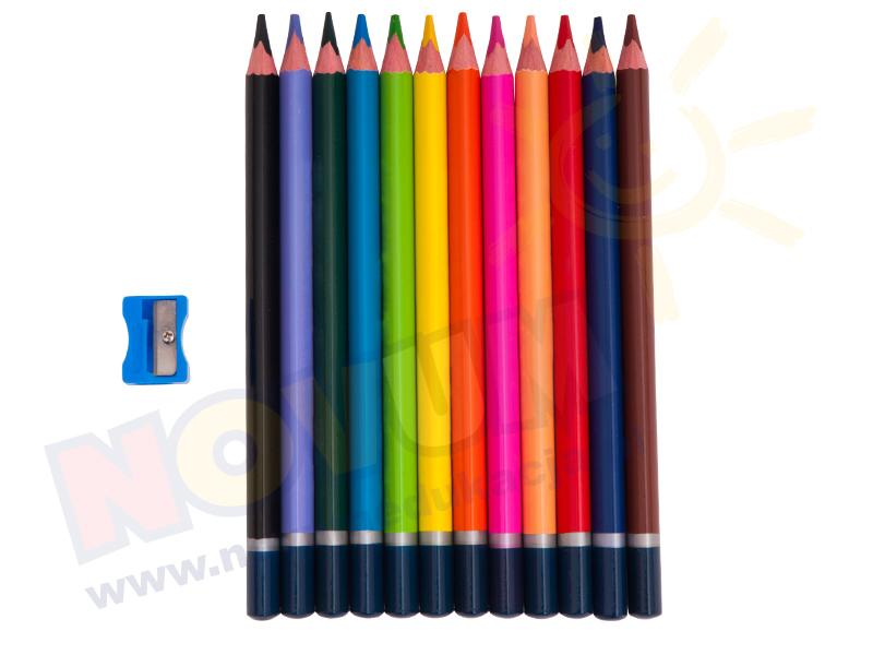 Novum Kredki ołówkowe Jumbo trójkątne 12 Kolorów