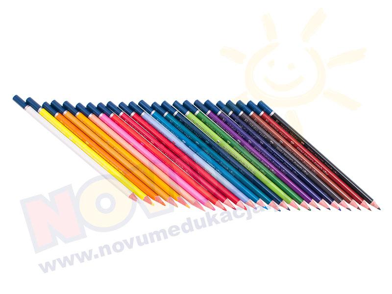 Novum Kredki ołówkowe trójkątne 24 kolory