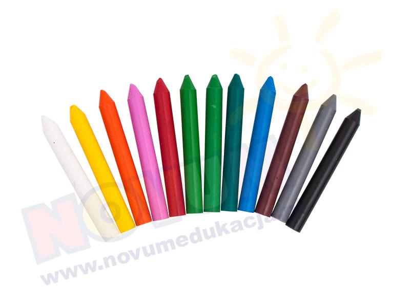Novum Kredki woskowe - 12 kolorów