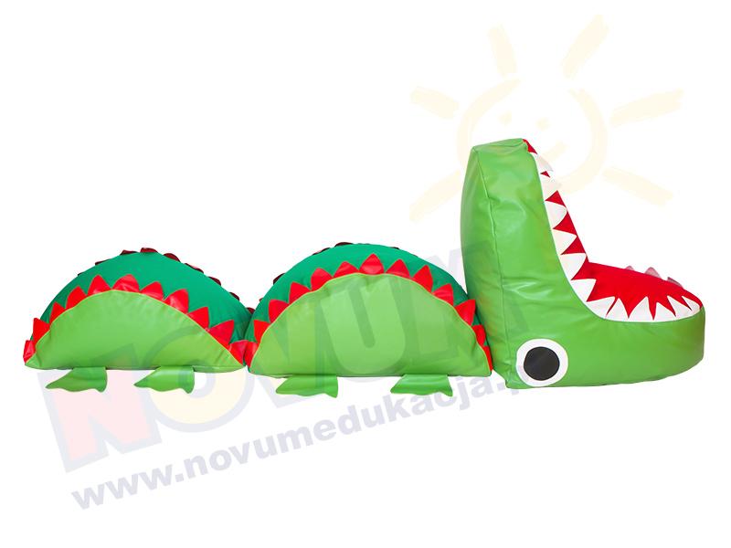 Novum Krokodyl - pufa z granulatem duża