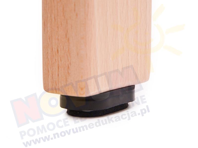 Novum Krzesełko bukowe wys.35 cm z filcowymi zaślepkami
