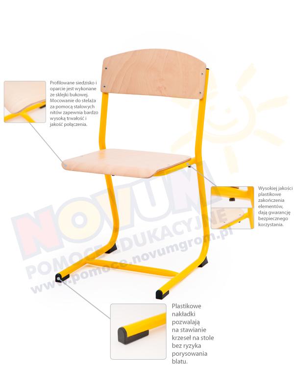 Novum Krzesełko Classic rozmiar 4 - żółty