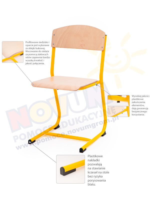 Novum Krzesełko Classic rozmiar 5 - aluminiowe