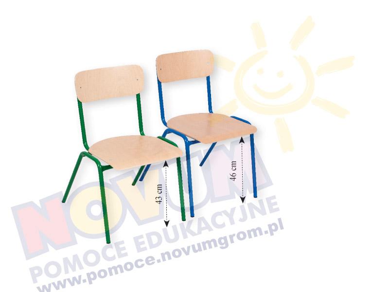 Novum Krzesło NOVUM 46 niebieskie