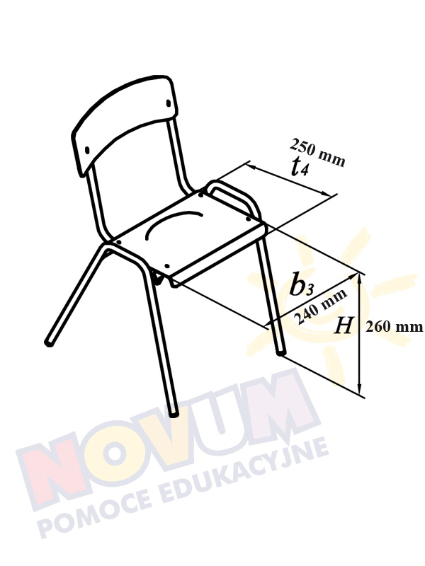 Novum Krzesło Novum wys.26 - aluminiowe