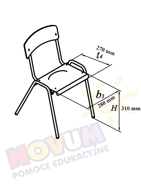 Novum Krzesło Novum wys.31 - niebieskie