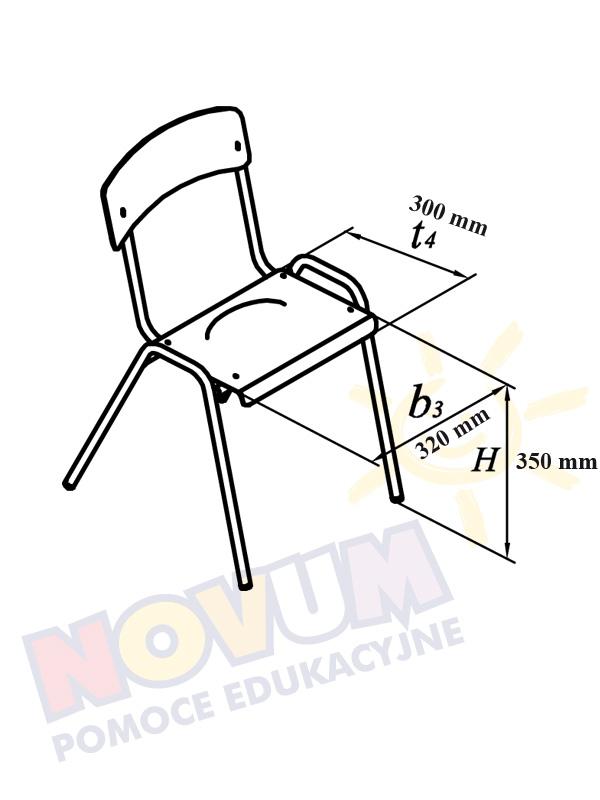 Novum Krzesło Novum wys.35 - niebieskie
