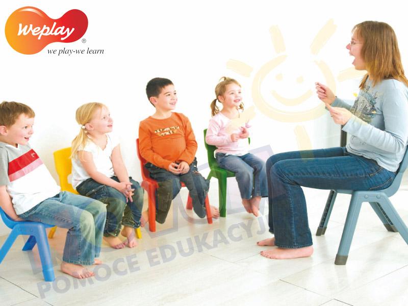 Novum Krzesło WP 26 cm niebieskie
