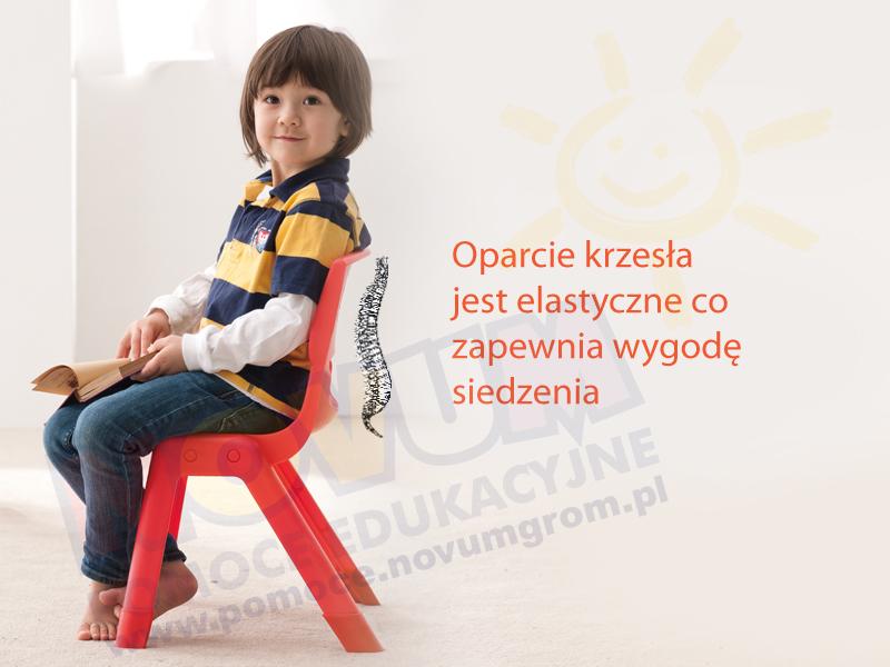 Novum Krzesło WP 30 cm żółte