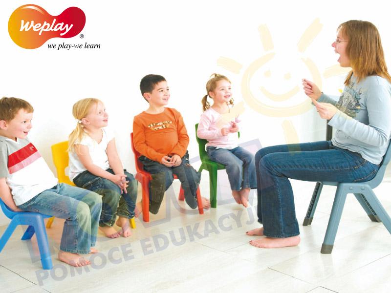 Novum Krzesło WP 34 cm czerwone
