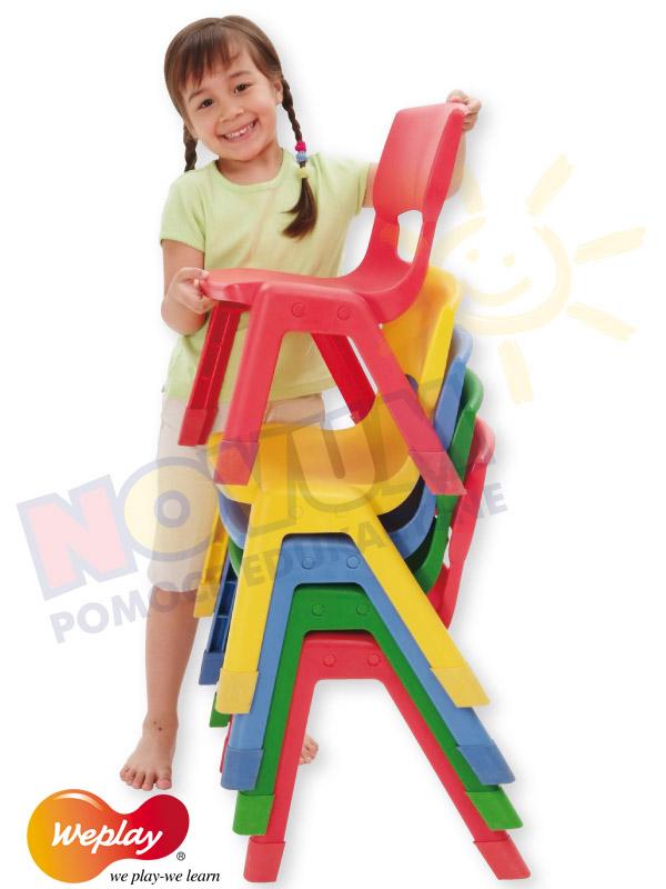 Novum Krzesło WP 34 cm niebieskie