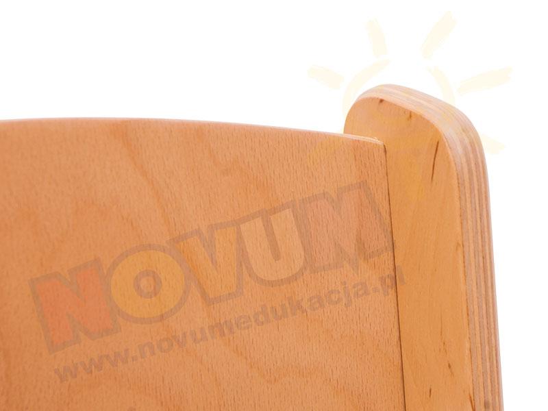 Novum Krzesło ze sklejki z podłokietnikiem 26 cm
