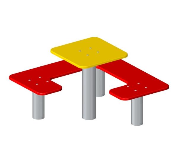 Lars Laj Kwadratowa ławka i stolik