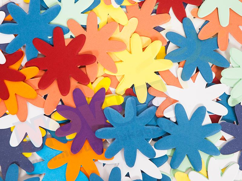 Novum Kwiaty kartonowe 6 cm