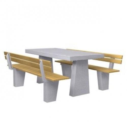 Inter Play Ława betonowa, siedzenia z oparciami (MR5110)