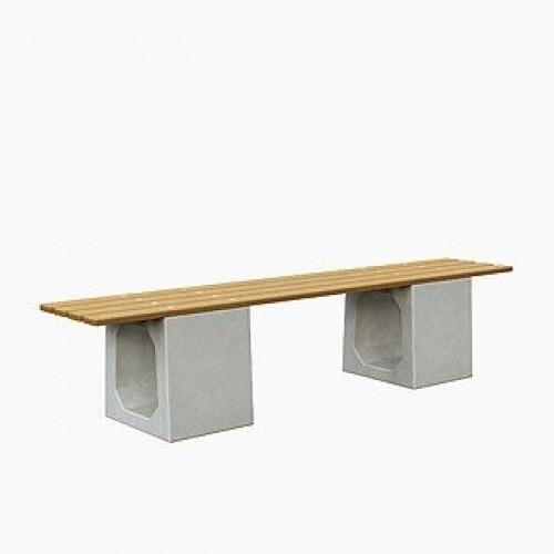 Inter Play Ławka betonowa bez oparcia (MR0055)