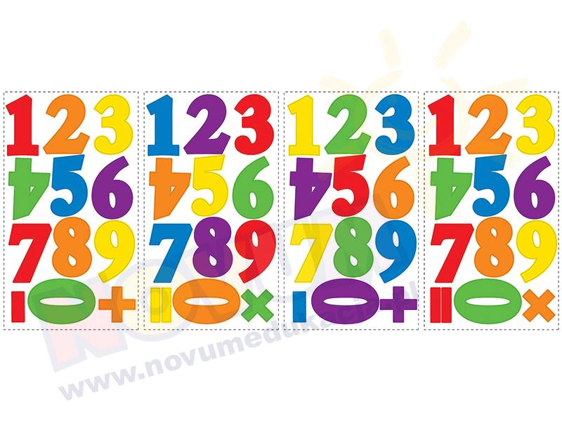 Novum Naklejki na ścianę Pierwsze cyfry