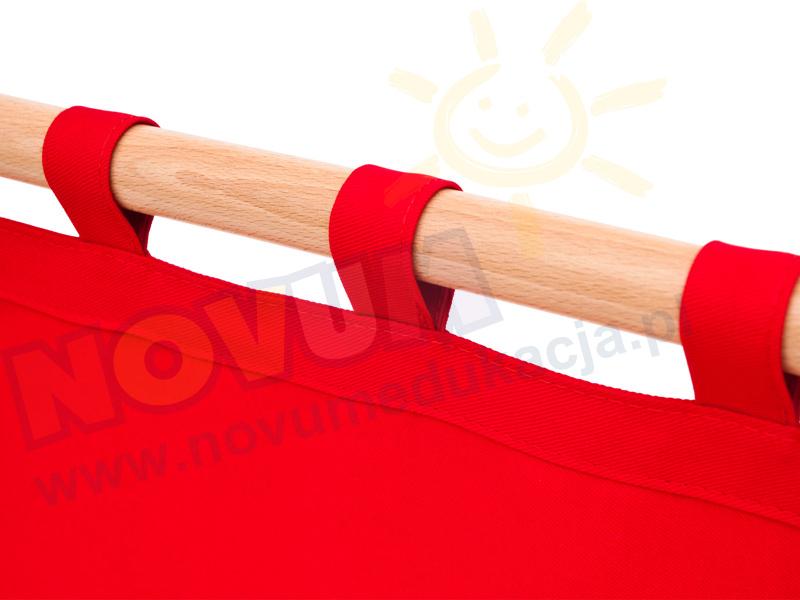 Novum Parawan niski czerwony