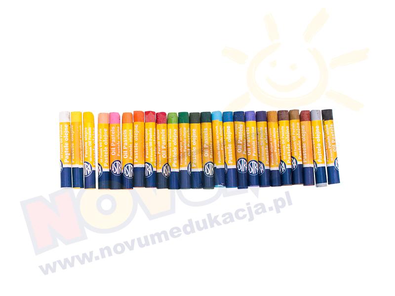 Novum Pastele olejne 24 kolory