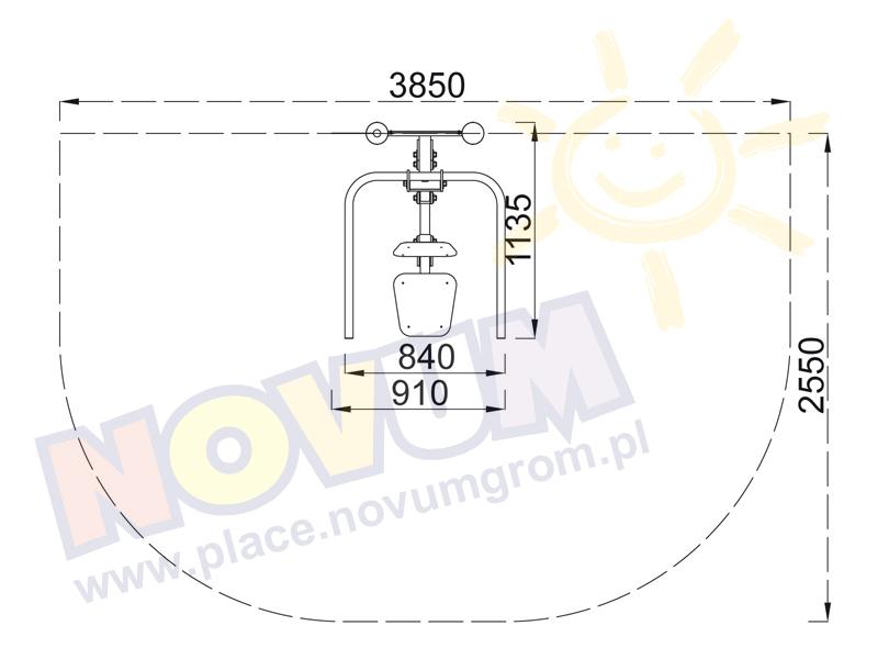 Novum Pianka marbel połysk 20x30 cm