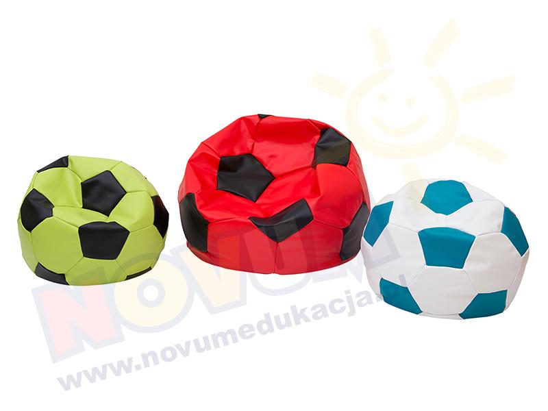 Novum Piłka nożna mała, biało-turkusowa