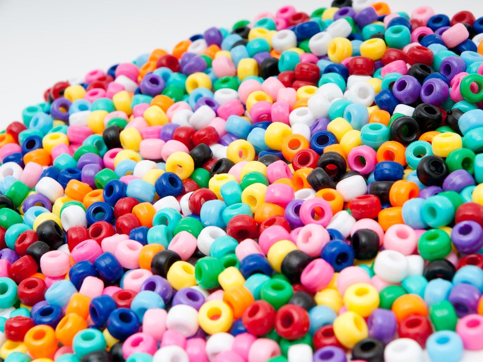"Novum Plastikowe koraliki ""Kongo"", 1000 szt.kolory podstawowe"