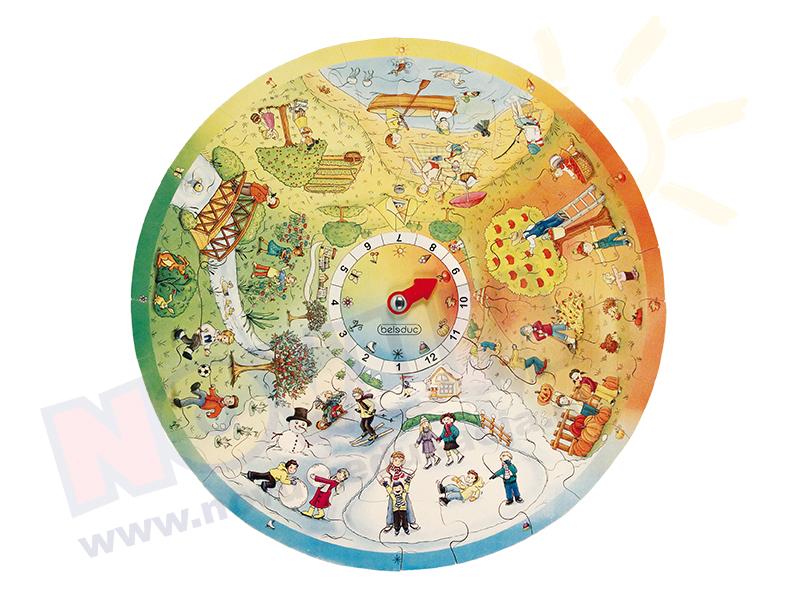 Novum Puzzle edukacyjne 4 pory roku