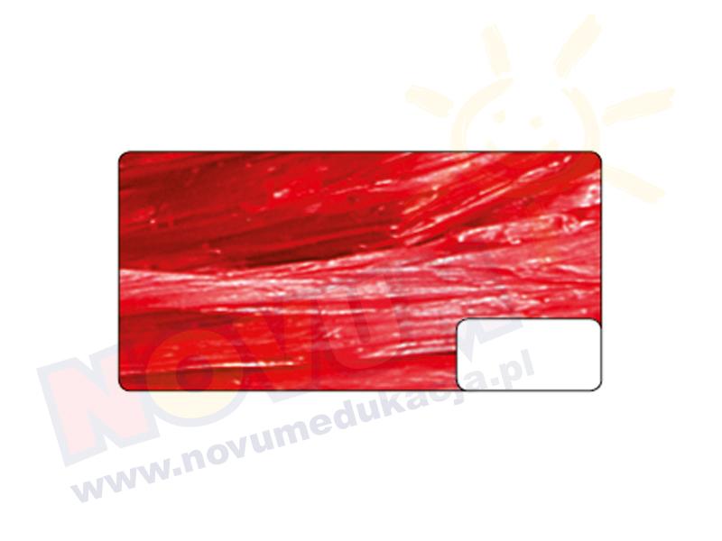 Novum Rafia z połyskiem czerwona
