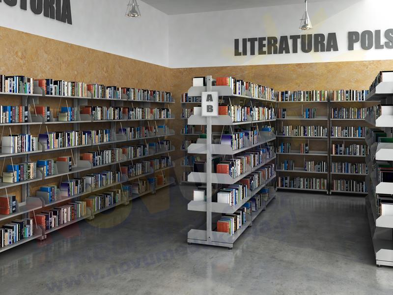 Novum Regał biblioteczny dwustronny
