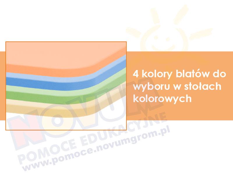 Novum Stół kolorowy kwadratowy pastel - pomarańczowy