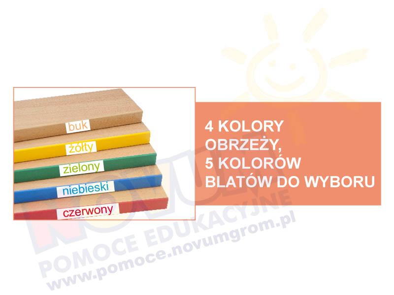 Novum Stół kolorowy prostokątny pastel - pomarańczowy