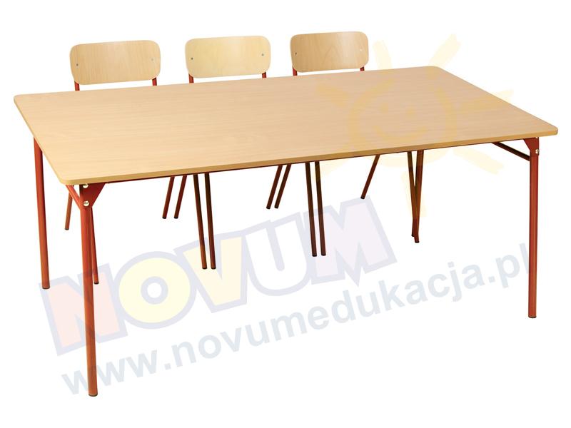 Novum Stół LT3 76 cm - czerwony