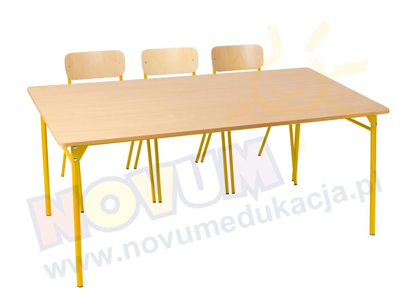 Novum Stół LT3 76 cm - żółty