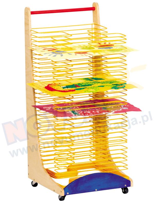 Novum Stół prostokątny z dokrętkami prostymi żółty
