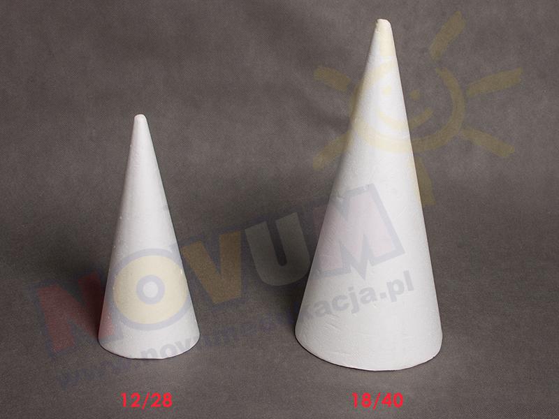 Novum Stożek styropianowy 12/28 cm