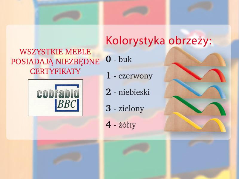 Novum Szafka na szuflady N 800 - zielona