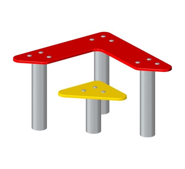 Lars Laj Trójkątna ławka i stolik