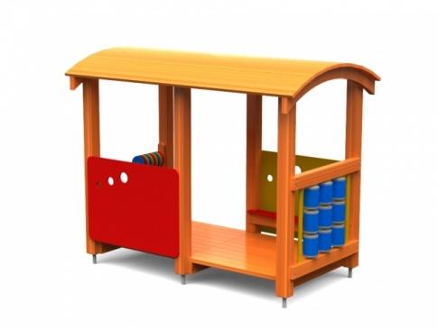 Elmo Place Zabaw Wagon z daszkiem