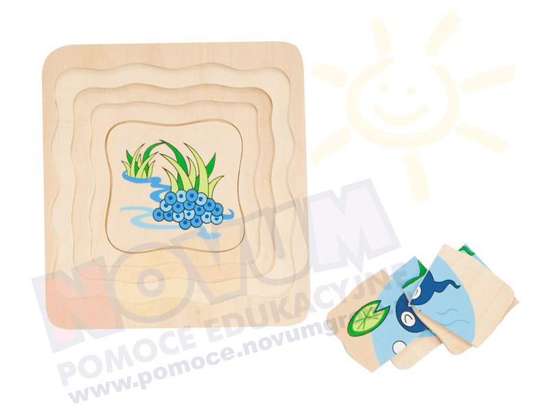 Novum Żabka mała - puzzle wielowarstwowe