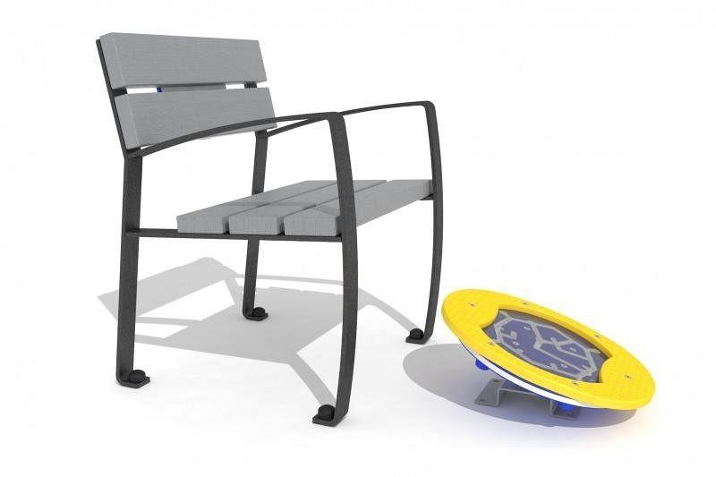 Inter Play Zestaw ławka z ruchomą platformą zawiera labirynt (AO-004)