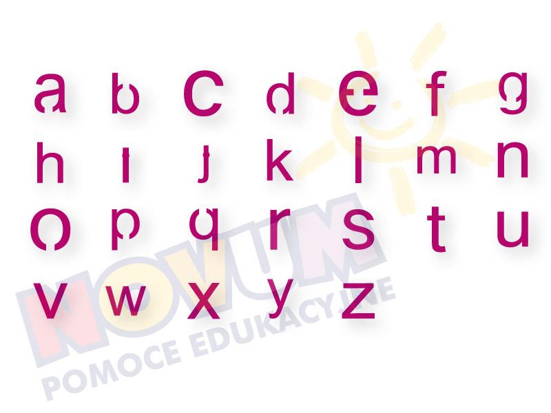 Novum Zestaw liter małych