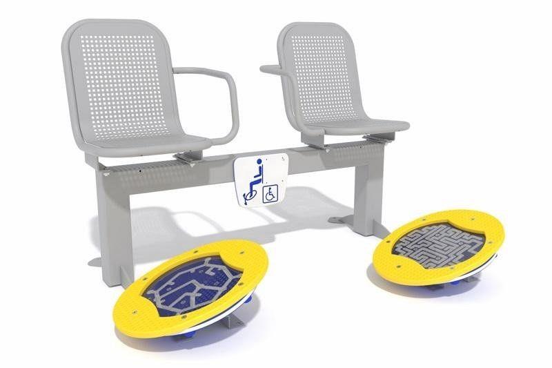 Inter Play Zestaw podwójny ławka z ruchomą platformą zawiera labirynt (AO-009)